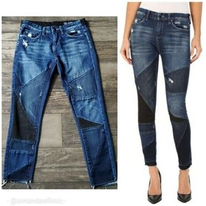 BlankNYC Ball and Chain Patchwork Skinny Jeans